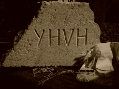 YHVH carved in stone