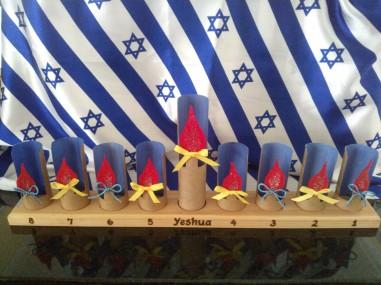 Kids making during Hanukkah